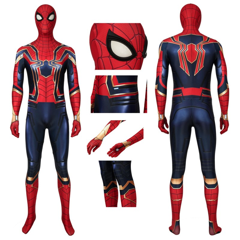 Iron Spiderman Jumpsuit Avengers: Endgame Peter Parker Cosplay