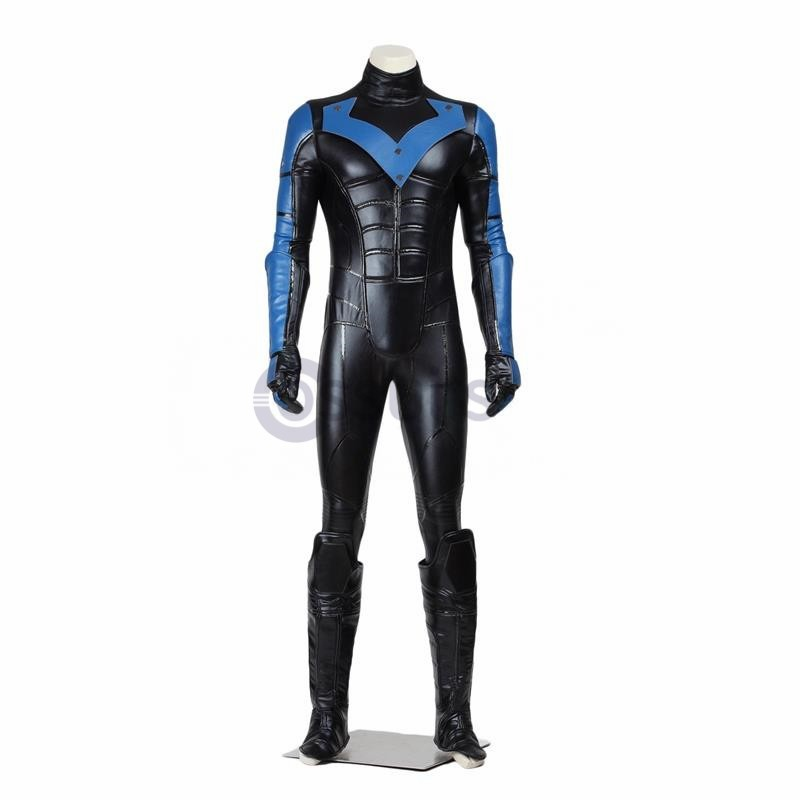Top Grade Batman Young Justice Nightwing Cosplay Costume