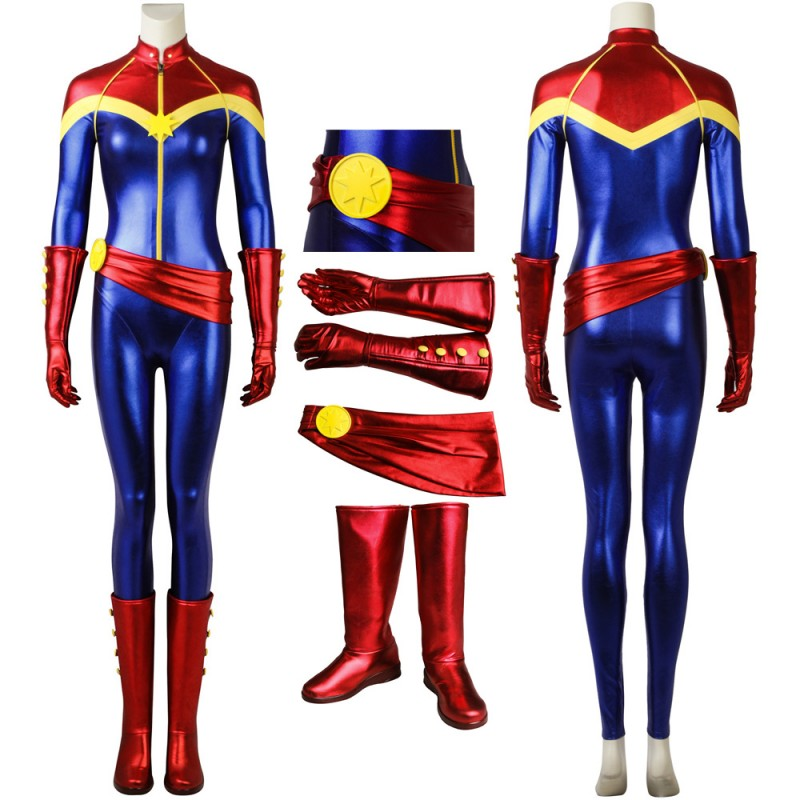 Ms Marvel Captain Marvel Carol Danvers Cosplay Costume With Boots Captain Marvel Costumes Cossuits They are made by rubies and are made of a durable soft foam accented with glitter and gold details. ms marvel captain marvel carol danvers cosplay costume with boots