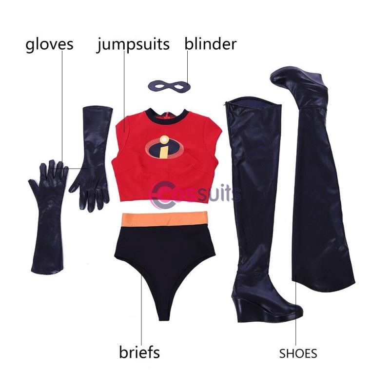 The Incredibles 2 Elastigirl Helen Parr Cosplay Costume With Boots Cossuits