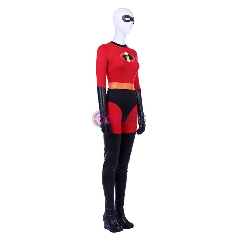 Incredibles 2 Elastigirl Helen Cosplay Boots LongBlack Shoes High heel Halloween