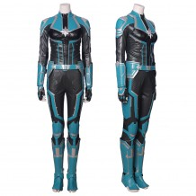 Captain Marvel Cosplay Costume Carol Danvers Green Version Suit