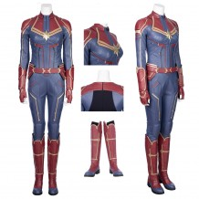 Captain Marvel Cosplay Costume Carol Danvers Jumpsuit For Woman