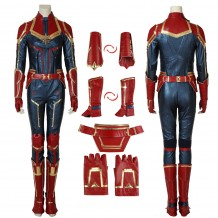 Carol Danvers Costume Captain Marvel Artificial Leather Cosplay Suit