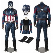 Marvel Captain America Civil War Captain America Steve Rogers Cosplay Costume