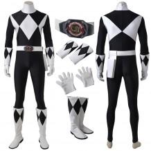 Mighty Morphin Power Rangers Zachary Taylor Black Ranger Cosplay Costume