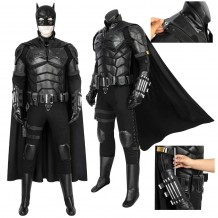 The Batman 2021 Movie Cosplay Costumes Bruce Wayne Robert Pattinson Batsuit