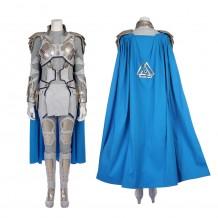 Thor Ragnarok Valkyrie White War Armor Cosplay Costume
