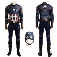 Top Grade Captain America 3 Civil War Steve Rogers Cosplay Costume