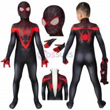 Ultimate Spiderman PS5 Miles Morales Cosplay Costume Spiderman Kids Suits