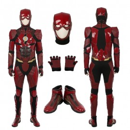 2017 Justice League Movie The Flash Barry Allen Cosplay Costume