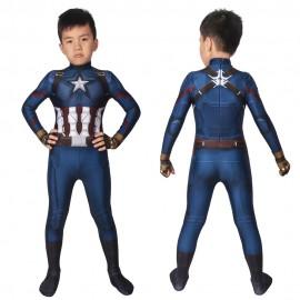 Avengers Endgame Costumes Steven Rogers Captain America Cosplay For Kids