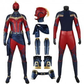 Avengers: Endgame Costume Captain Marvel Cosplay Suit