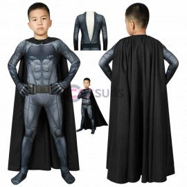 Batman Kids Suits Justice League Batman Cosplay Costume With Cape