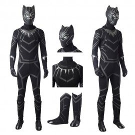 Black Panther Cosplay Costume T'Challa Cosplay Suit Top Level