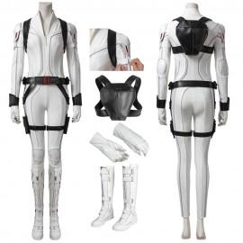 Black Widow 2020 Costume Natasha Romanoff White Cosplay Suit