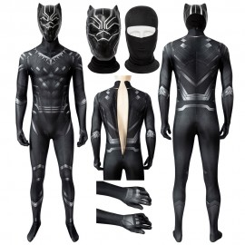 Black Panther Costume Captain America: Civil War T'Challa Cosplay Jumpsuit