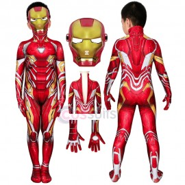 Iron Man Kids Costume Avengers Endgame Iron Man Tony Stark Nanotech Suit