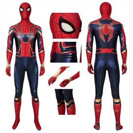 Iron Spiderman Jumpsuit Avengers: Endgame Peter Parker Cosplay Costume
