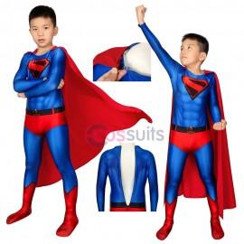 Kids Superman Costume Crisis On Infinite Earths Kal-El Clark Kent Cosplay Suits