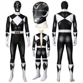 Mighty Morphin Black Power Rangers Cosplay Suit Goushi Mammoth Ranger Costume