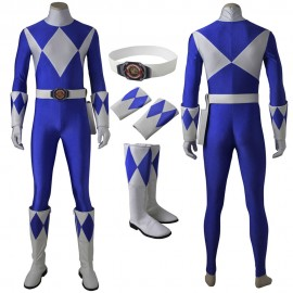 Mighty Morphin Power Rangers Billy Cranston Blue Ranger Cosplay Costume
