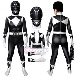 Power Rangers Kids Costume Mighty Morphin Power Rangers Goushi Mammoth Ranger Black Cosplay Jumpsuit