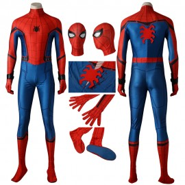 Movie Spider-Man Homecoming Cosplay Costume Peter Benjamin Parker Jumpsuits