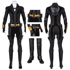 New Black Widow Natasha Romanoff Black Cosplay Suit