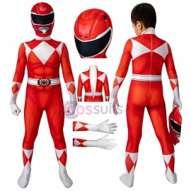 Power Rangers Kids Costume Power Rangers Jason Red Ranger Cosplay Jumpsuit