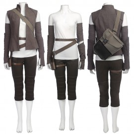 Rey Cosplay Costume Star Wars 8 The Last Jedi Outfits