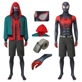 Spider-Man: Into the Spider-Verse Miles Morales Cosplay Costume New Style
