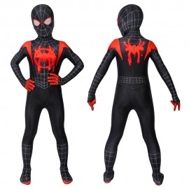 Spiderman Miles Morales Jumpsuit Into The Spider-Verse Cosplay Costume