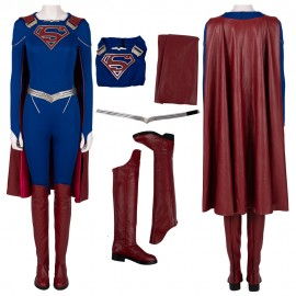 Supergirl Cosplay Costumes Season 5 Kara Zor-El Cosplay Suit