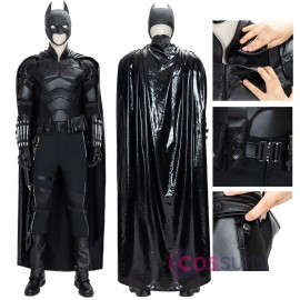The Batman 2021 Bruce Wayne Costume Robert Pattinson Cosplay Suit