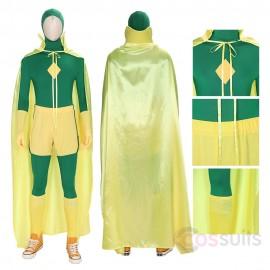 Vision Green Cosplay Costumes Wanda Vision Cosplay Suit