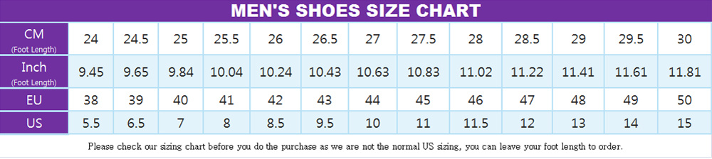 cosplay costumes men shoes size chart