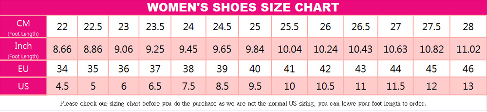 cosplay costumes women shoes size chart